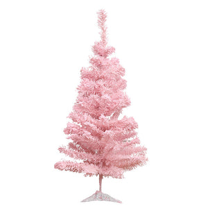 JUSTDOLIFE 23.62'' Artificial Christmas Tree Frosted Christmas Pine Tree Home Decoration