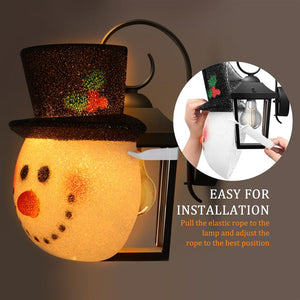 2pcs Snowman Head Light Cover for Christmas