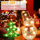 5D Christmas Tree LED Night Light Table Lamp