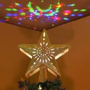 2019 Projection Star Christmas Tree Topper