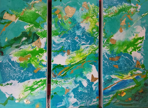 ***Sold*** Under the Sea triptych