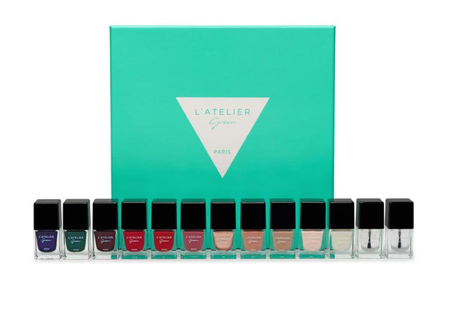 L'Atelier Green Paris the first breathable and plant based nail polish. manicure monday
