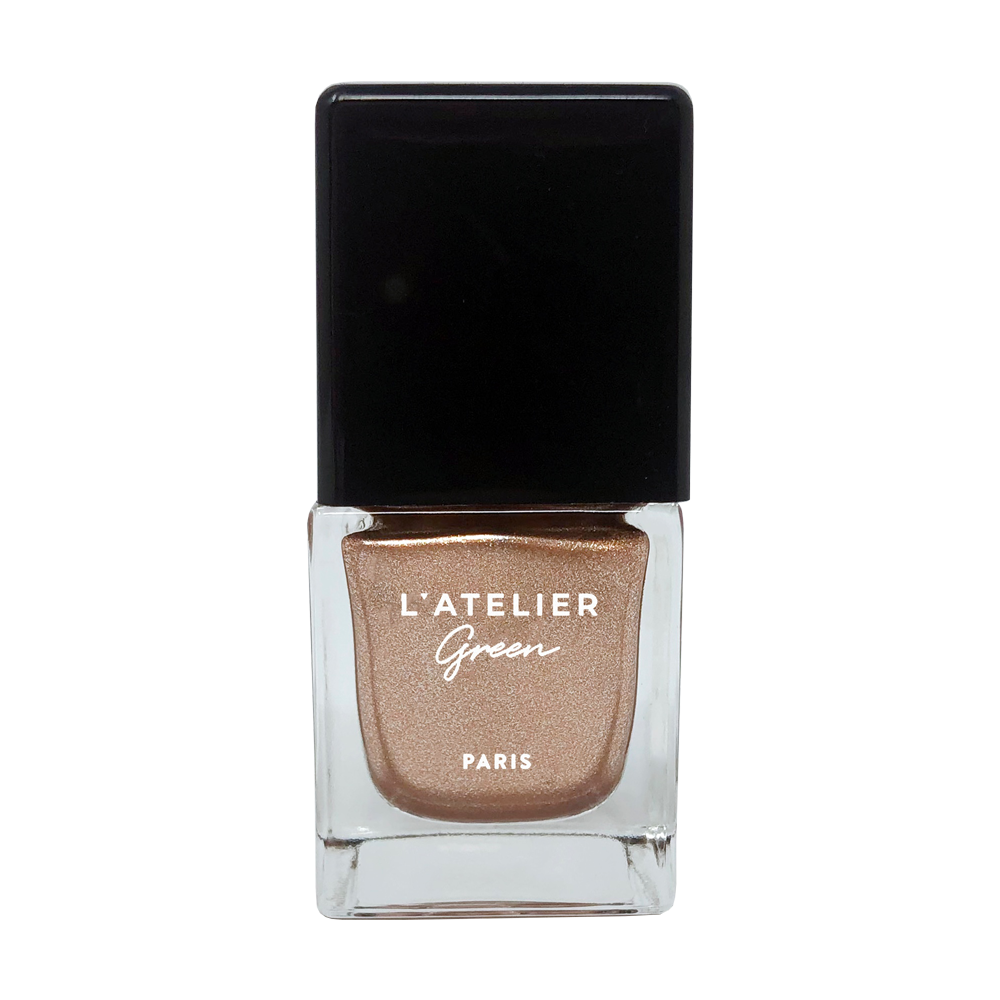 Golden Girl - L'ATELIER Green Paris Halal-Vegan-Breathable-Nail-Polish-Cruelty-Free-Plant-Based-glitter-brown-nail-polish (3923001409618)