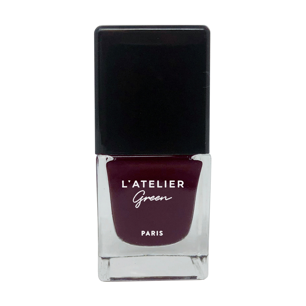 Hot Couture - L'ATELIER Green Paris Halal-Vegan-Breathable-Nail-Polish-Cruelty-Free-Plant-Based-rouge-noir-burgundy-red-colour (3923006849106)