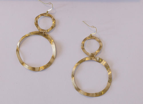 Claire Double Circle Earrings