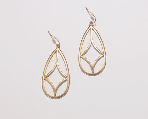 Ali Diamond Teardrop Earrings