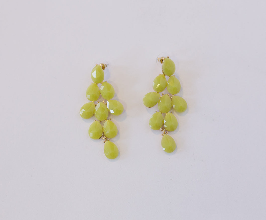 Melissa Lime Drop Earrings