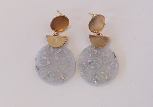 Hannah Half Moon Drop Earrings