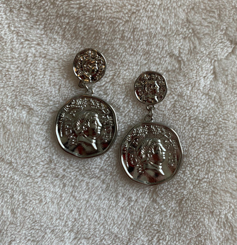 Aria Coin Drop Earrings