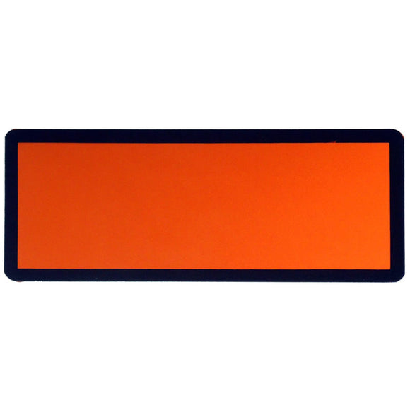 Orange ADR Plate Self Adhesive 120 x 300mm