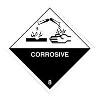 Class 8 Corrosive Packaging Label
