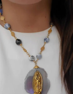 Virgin Mary and St. Benedict Necklace