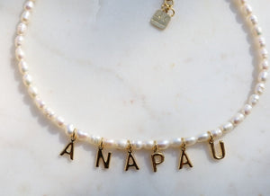 Bracelet pearl and name