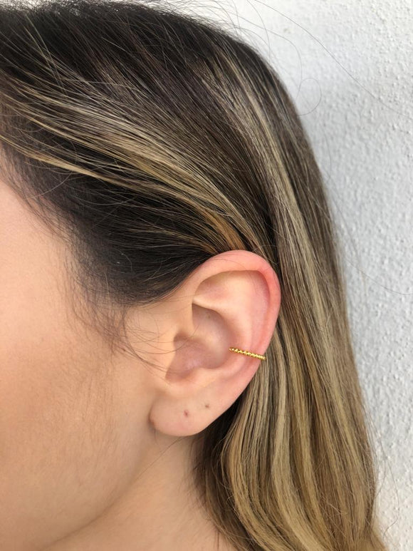 Gold Clip Earring