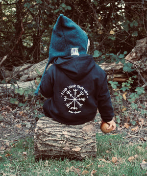 Find Your Own Way ( Vegvisir) Custom Patch Zip down Hoody