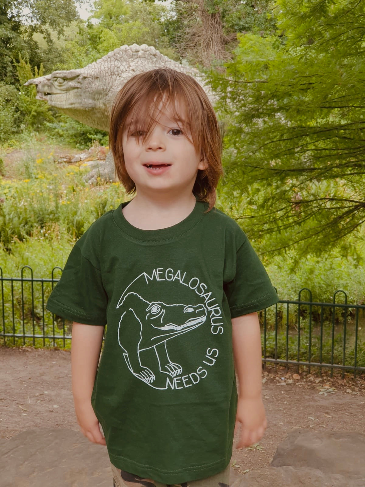 Megalosaurus Needs Us Kids T shirt