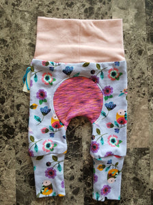 Squishiloones ~ fits approximately Newborn to 6 months ~ Flowers & Birds