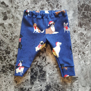 Leggings for infants and toddlers ~ Dogs with Santa Hats
