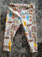 Load image into Gallery viewer, Leggings for infants and toddlers ~ Rainbows, Peace, Love, Skates, Glitter, Girl Power