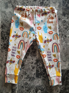 Leggings for infants and toddlers ~ Rainbows, Peace, Love, Skates, Glitter, Girl Power