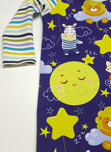 Moon and Stars Romper, Infant Pull On Romper, Stretch Romper *