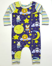 Load image into Gallery viewer, Moon and Stars Romper, Infant Pull On Romper, Stretch Romper *