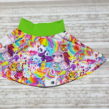Load image into Gallery viewer, Lisa Frank inspired twirl skirt, Skater Skirt, Circle Skirt, for infants, toddlers, and girls. *