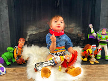 Load image into Gallery viewer, Toy Story inspired bummies, diaper covers for infants and toddlers in sizes NB through 3T.