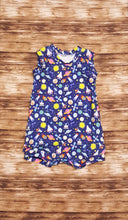 Load image into Gallery viewer, Outer space themed tank style summer romper. Infant and toddler sizes available.