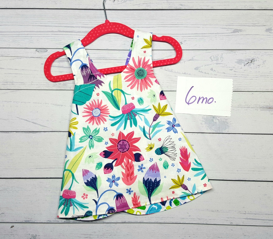 Floral Reversible Infant Dress in sizes 6 months