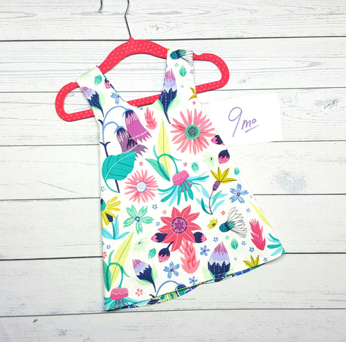 Floral Reversible Infant Dress in sizes 9 months
