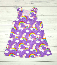 Load image into Gallery viewer, Unicorns and Rainbows Reversible Dress