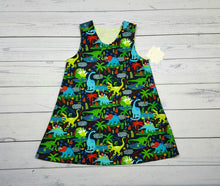 Load image into Gallery viewer, Dniosaurs and Paisley Reversible Dress