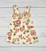 Load image into Gallery viewer, Floral Girls Reversible Pinafore Dress