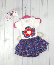 Load image into Gallery viewer, Infant body suit with matching skirt 2 piece sets, Patriotic sets