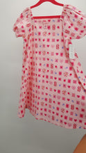 Load image into Gallery viewer, Simply Sweet Pink Hearts & Flowers Summer Dress Size 5-6