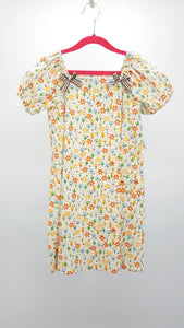 Simply Sweet Nature Girl Tree Print Summer Dress w/ Ribbon Accents Size 5-6 *