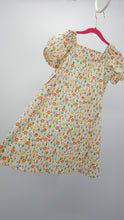 Load image into Gallery viewer, Simply Sweet Nature Girl Tree Print Summer Dress w/ Ribbon Accents Size 5-6
