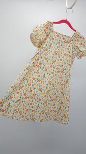 Simply Sweet Nature Girl Tree Print Summer Dress w/ Ribbon Accents Size 5-6