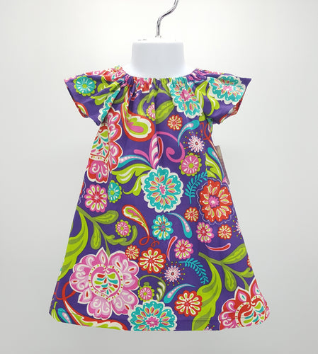 Simply Sweet Girls Purple Floral Dress