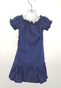 Simply Sweet Girls Navy Blue, Polka Dot Dress