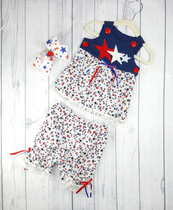 Infant 2 piece Patriotic Capri and Top set, size 9 months