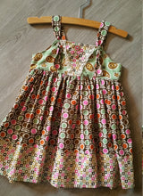 Load image into Gallery viewer, Paisley and floral earth tones sleeveless sun dress in size 2T. Perfect summer dress for your toddler *