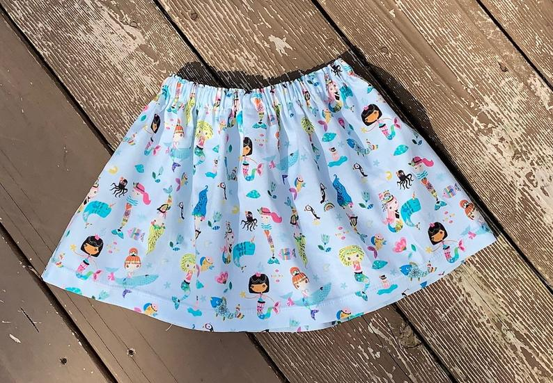 Summer Mermaid Skirt 5T and girls 6