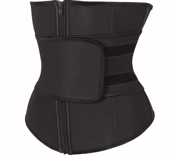 High Waist Compression Zipper Waist Trainer - Shape It Up