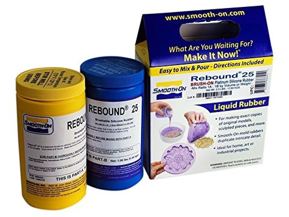 Smooth-On Rebound 25 Brush On Trial Unit Platinum Silicone Moldmaking Rubber