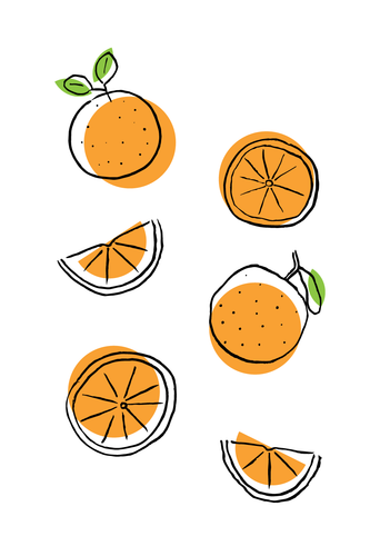Fruit & Veg Oranges 13x19
