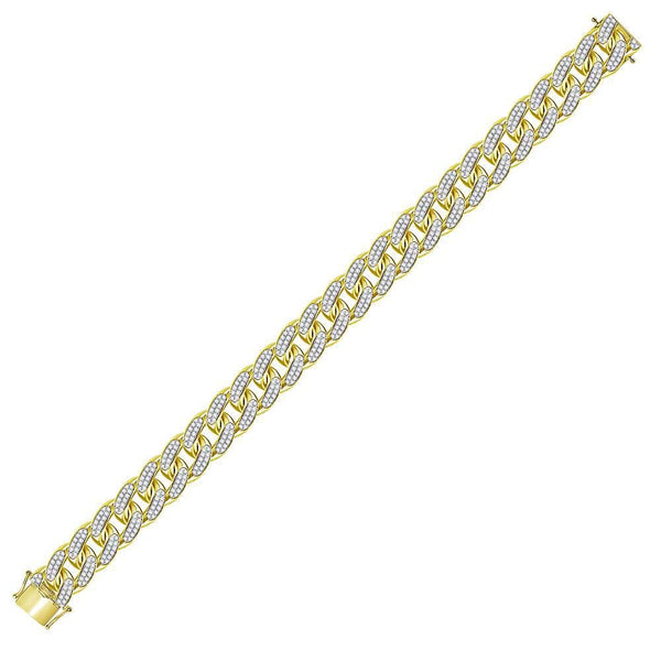 Mens Diamond Cuban Link Bracelet