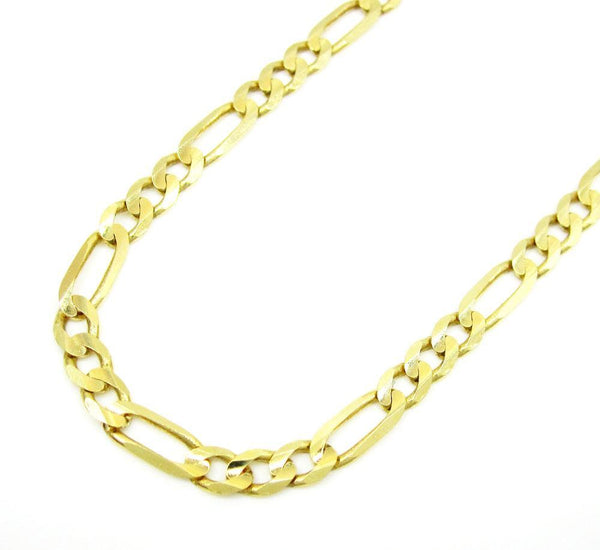 10K Yellow Gold Hollow Figaro Chain 3MM
