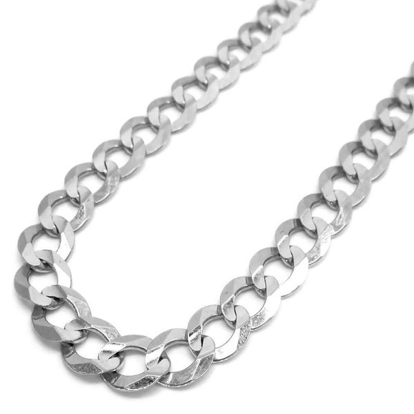14K White Gold Solid Miami Cuban Chain 9MM